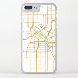 MINNEAPOLIS MINNESOTA CITY STREET MAP ART Clear iPhone Case