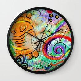 Taino Echoes - Puerto Rico Tribal Ethnic Art Wall Clock