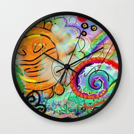 Taino Echoes - Puerto Rico Tribal Ethnic Art Wall Clock
