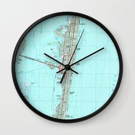 Seaside Park & NJ Shore Map (1989) Wall Clock
