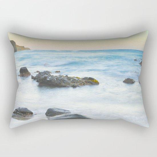 Magic beach. Volcanic sea. Rectangular Pillow