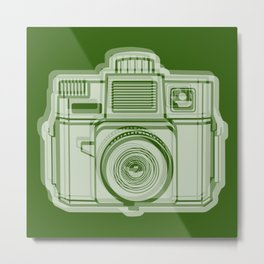 I Still Shoot Film Holga Logo - Reversed Green Metal Print