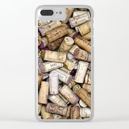 Fine Wine Corks Square Clear iPhone Case