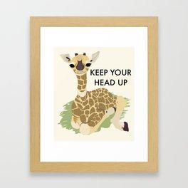 Keep Your Head Up Framed Art Print