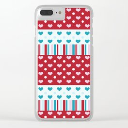 Charmed Hearts Clear iPhone Case