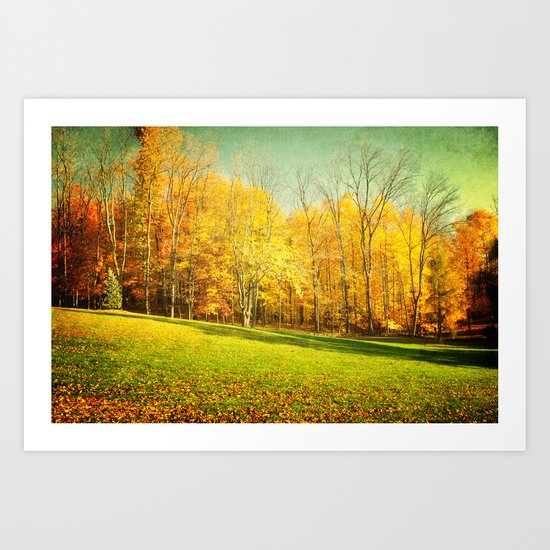 Golden Autumn in Ohio Art Print