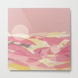 Pink Multi Layer Pattern Design Metal Print