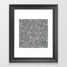 Ab Fan Grey And Nude Framed Art Print