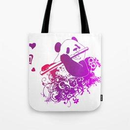 Panda Flute Tote Bag