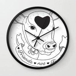 Friends not Food Wall Clock
