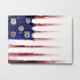 Nearly Patriotic, #16, Western Badges Metal Print