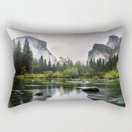 America Yosemite National Park river fog Mariposa California USA North America Rectangular Pillow
