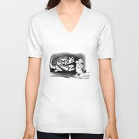 nightmare V-neck T-shirts featuring Nightmare by Michelle Behar