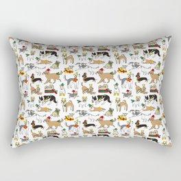Christmas Dogs Rectangular Pillow