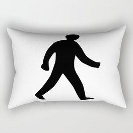 Walking Man Silhouette Rectangular Pillow