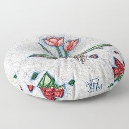Floating Tulip Floor Pillow