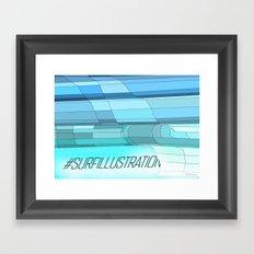 Surf Illustration Framed Art Print