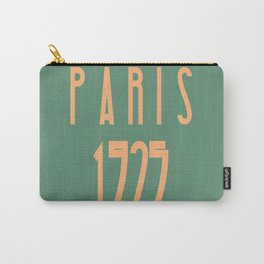 Paris 1925 Art Deco Exposition Framed Typography Tribute Carry-All Pouch