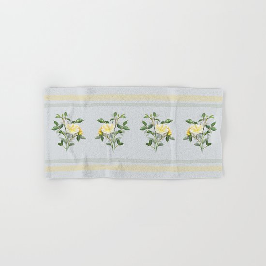 Yellow Watercolor Rose Hand & Bath Towel