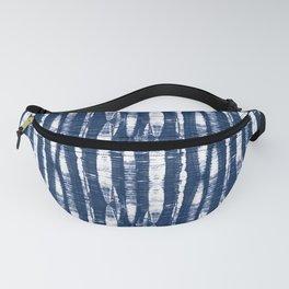 Shibori Stripes Indigo Blue Fanny Pack