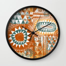 Tribal Bohemian Mosaic Wall Clock