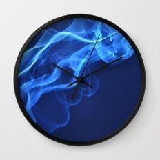 smoky blue Wall Clock