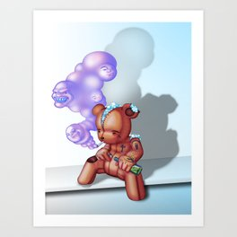 TattedTeddy Art Print