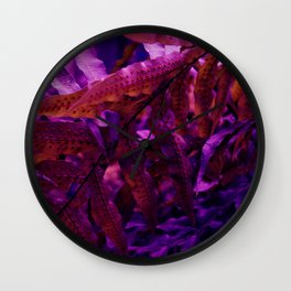 Moody Fern Wall Clock