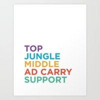 League Roles Art Print