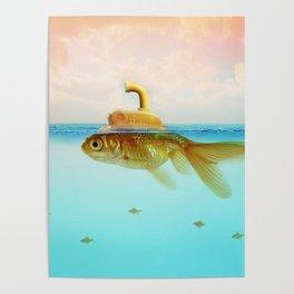 Submarine Goldfish Poster