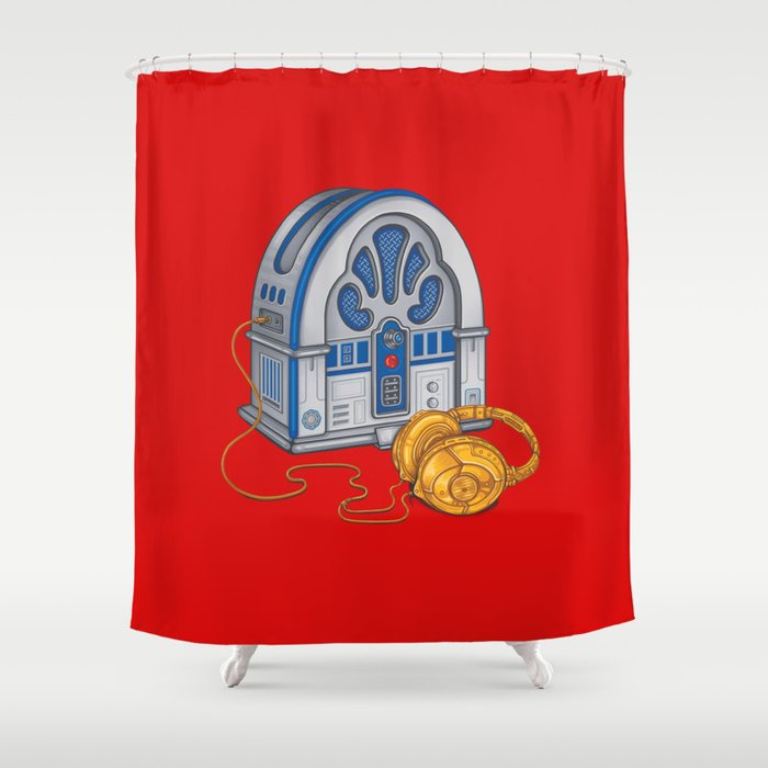 Beats by Droid - Recycled Future Shower Curtain
