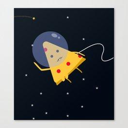 Space pizza man Canvas Print