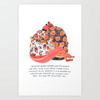 valentines Art Prints featuring Valentines by Mouni Feddag