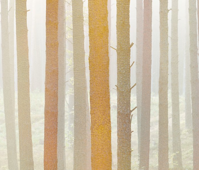 Golden Winter Forest 2 Metal Travel Mug