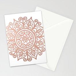 Rose Gold Floral Mandala Stationery Cards