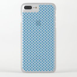 Indian Flowers Blockprint 1 (Mid Blue) Clear iPhone Case
