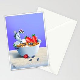Healthy breakfast dragon Stationery Cards