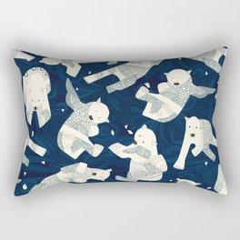 arctic polar bears midnight Rectangular Pillow