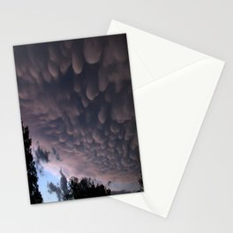 Wicked Mammatus Storm Clouds Stationery Cards