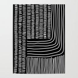 Digital Stitches thick black Poster