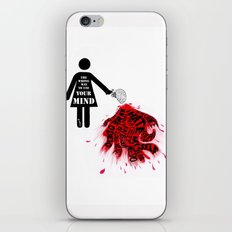 The wrong way to use your mind iPhone & iPod Skin