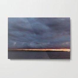 Sliver of Sunset over Portage Lake Metal Print