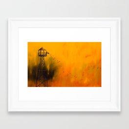Autumn Tower Framed Art Print