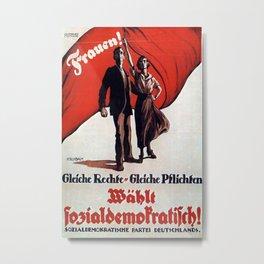 Vintage poster - German Women's Suffrage Metal Print