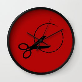 Cut here with scissors Wall Clock