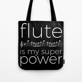 Flute is my super power (kv299) - black Tote Bag