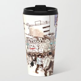 Street In Shibuya Metal Travel Mug