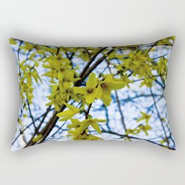 Yellow Flowers - Spring Arrives Rectangular Pillow