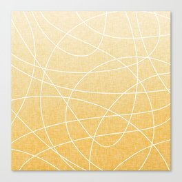 Scribble Linen - Sunflower Yellow Canvas Print