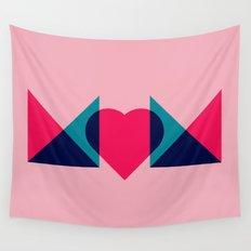 HEART MOM Wall Tapestry